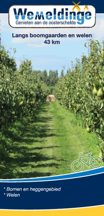 Fietsroute langs boomgaarden en welen 43 km