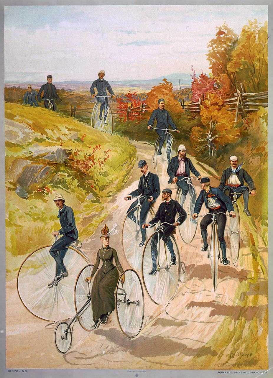 Expositie historische fietsen